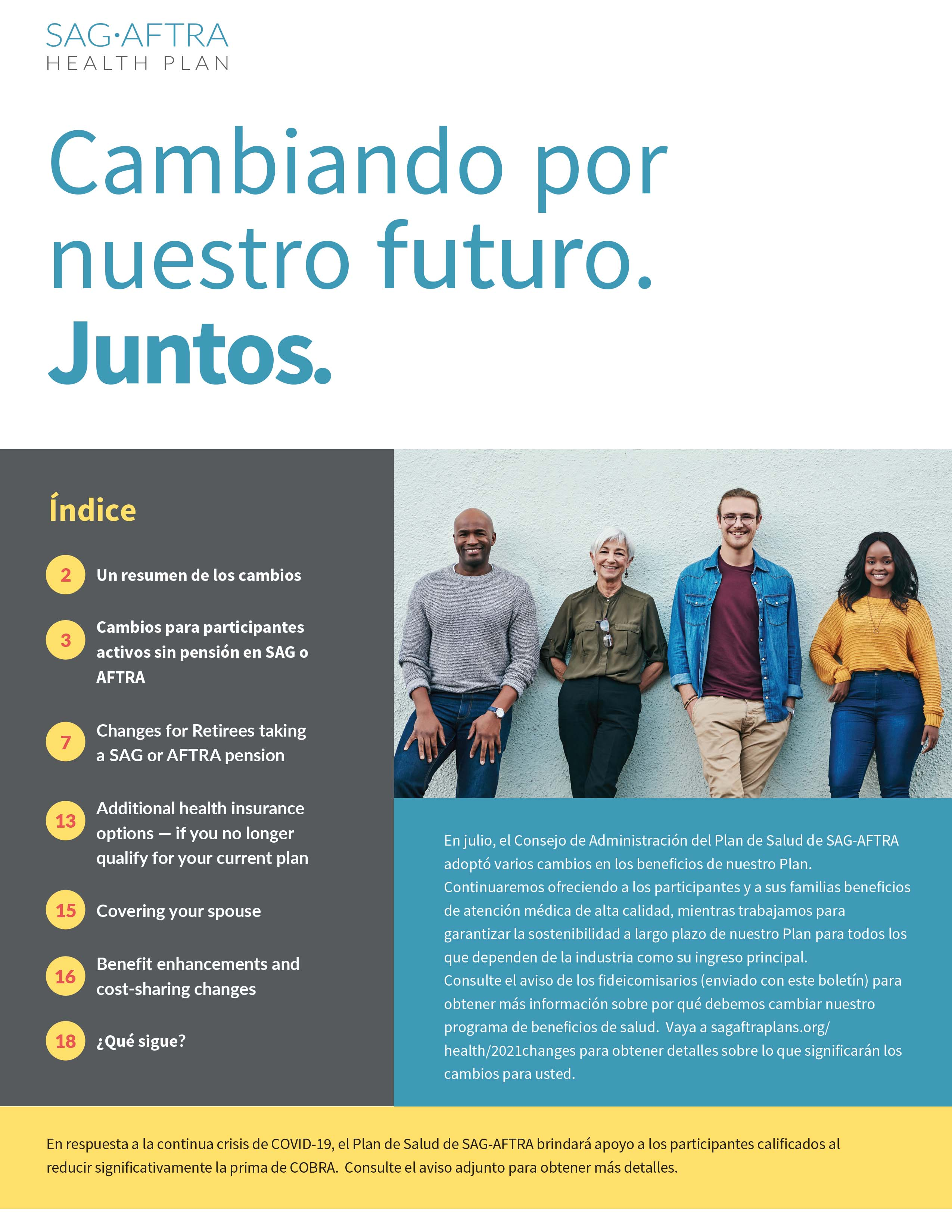newsletter cover page spanish